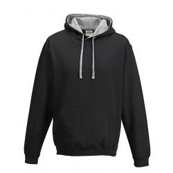 Hoody schwarz/grau (unisex)