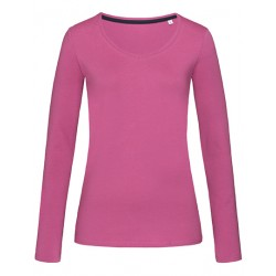 Langarm-Shirts-Mädels / pink